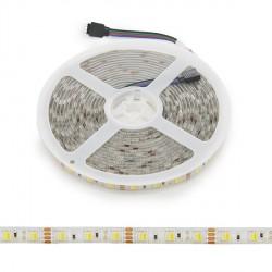 Tira de LEDs 12VDC SMD5050 60LEDs 72W Cálido/Frío IP65 5M