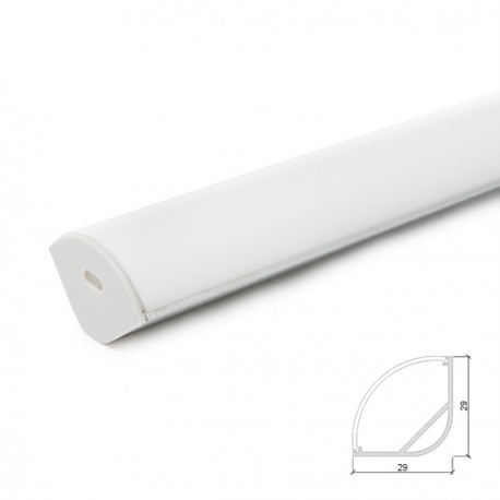 Profile Aluminium For LED Strip Diffuser Transparent - 2M