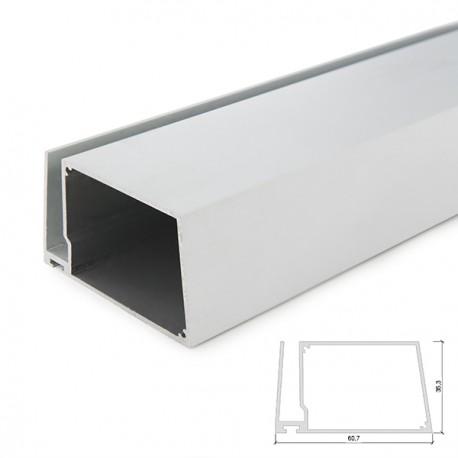Mensole In Vetro Con Led.Profilo Led In Alluminio Per Mensole Di Vetro Spesso 8mm Con Driver Housing 2 Metri Strip