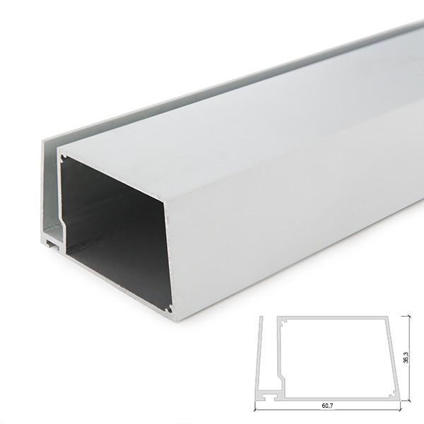Mensole Di Vetro Con Led.Profilo Led In Alluminio Per Mensole Di Vetro Spesso 8mm Con Driver