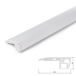 Aluminium LED Profile for Stair Lighting with Opal Diffuser - 1-Metre Strip