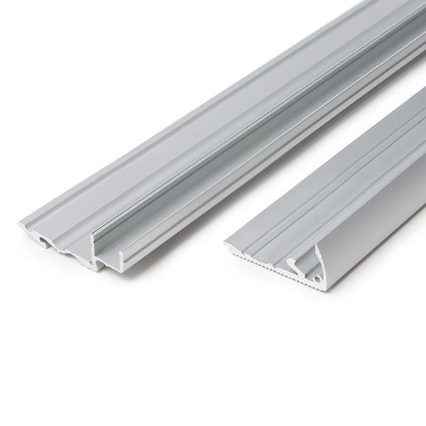 Perf l de aluminio para leds iluminaci n escaleras con - Leds para escaleras ...