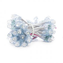 Pixel LED 12mm 0,1W 5V  Epistar (Cadena 40 Unidades) Blanco
