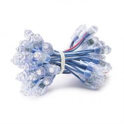 Pixel LED 9mm 0,1W 5V  Epistar (Cadena 50 Unidades) Azul