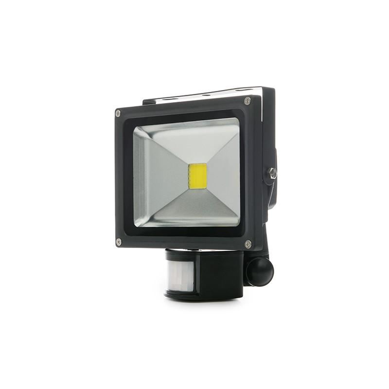 Proyector de LEDs para Exterior con Detector Movimiento 20W 1800Lm 30.000H
