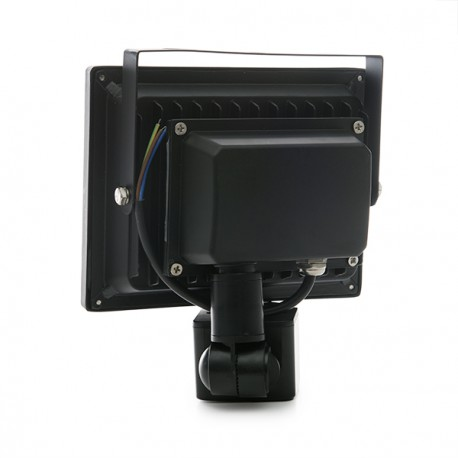 Foco Proyector de LEDs para Exterior 20W con Detector de Movimiento Luz: Blanco Natural