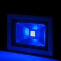 Foco Proyector de LEDs para Exterior BRICO 10W 850lm 30.000H Azul