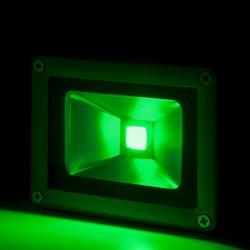 Foco Proyector de LEDs para Exterior BRICO 10W 850lm 30.000H Verde