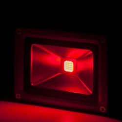 Foco Proyector de LEDs para Exterior BRICO 10W 850lm 30.000H Rojo