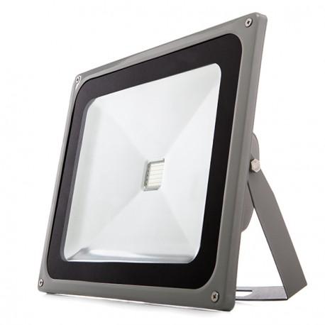 Foco Proyector de LEDs para Exterior 50W Serie BRICO Luz: Azul
