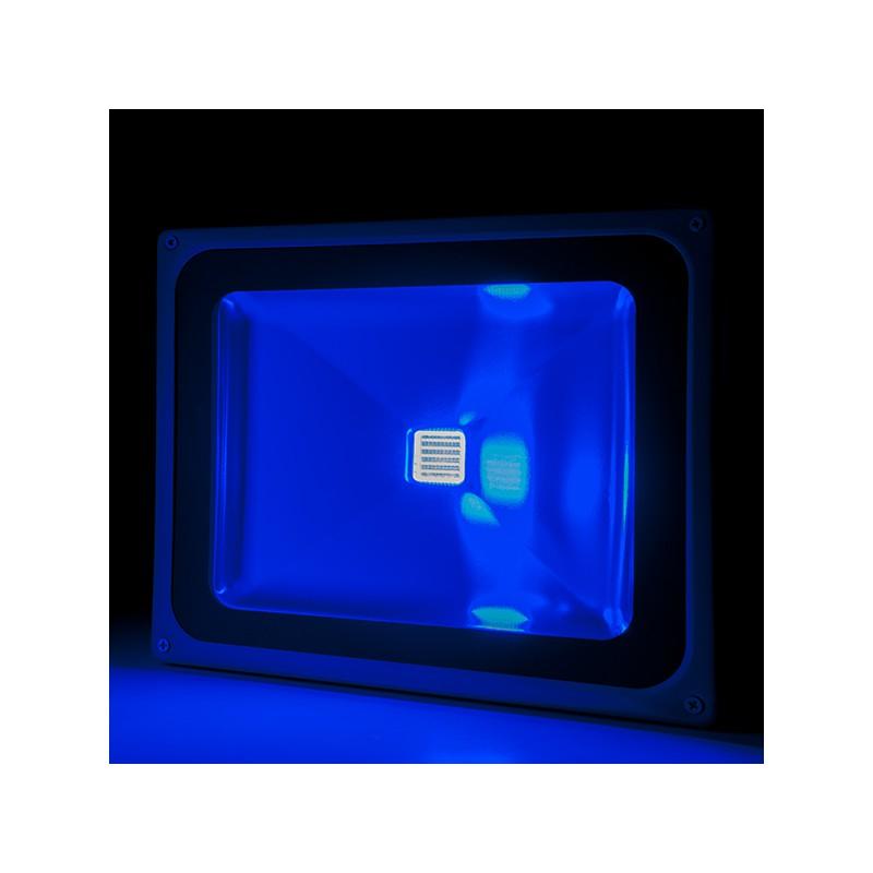 Foco Proyector de LEDs para Exterior BRICO 50W 4250Lm 30.000H Azul