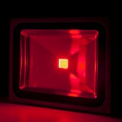 Foco Proyector de LEDs para Exterior BRICO 50W 4250Lm 30.000H Rojo