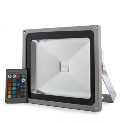 LED Outdoor Floodlight 30W RGB with Remote Control