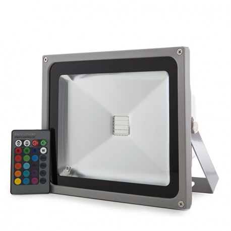 LED Floodlight IP65 30W RGB Remote Control