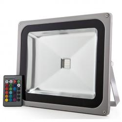 LED Outdoor Floodlight 50W RGB with Remote Control