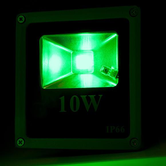 Foco proyector de leds para exterior ecoline 10w rgb con for Focos de led para exterior