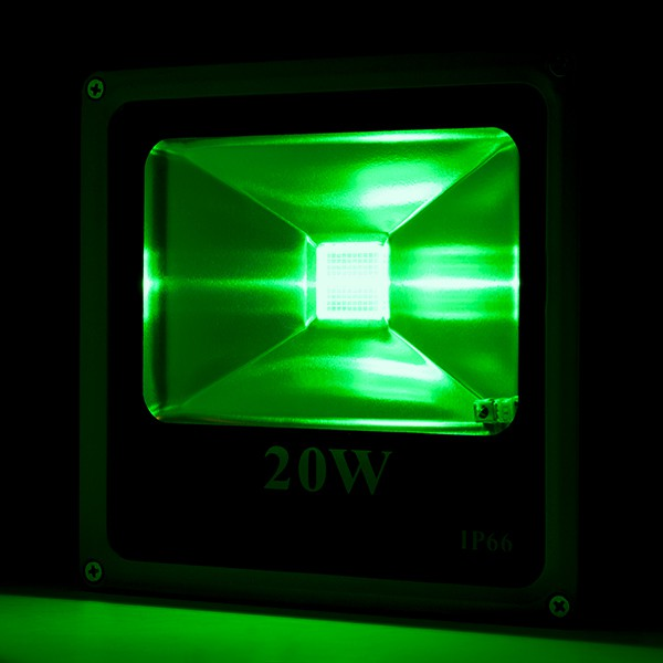 Foco proyector de leds para exterior ecoline 20w rgb con for Focos de led para exterior