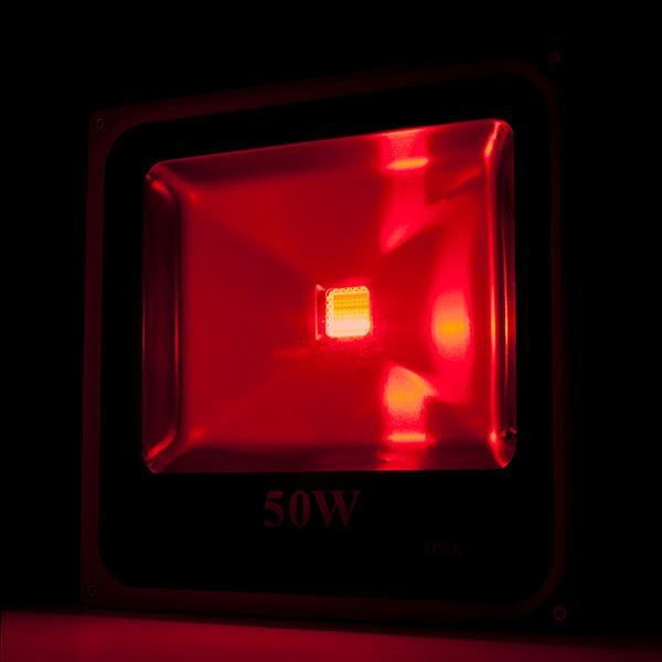Foco proyector de leds para exterior ecoline 50w rgb con for Focos de led para exterior