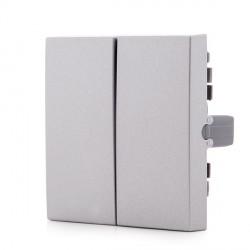 Split Button  PANASONIC NOVELLA for Double Switch/Commutator ,  Silver (compatible with KARRE mechanisms)