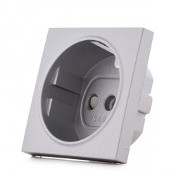 Housing PANASONIC NOVELLA for Earthed Power Point , Silver, (compatible with KARRE mechanisms)