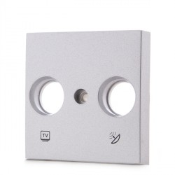 Front Plate  PANASONIC NOVELLA for Television Outlet R-TV-SAT, Silver (compatible with KARRE mechanisms)