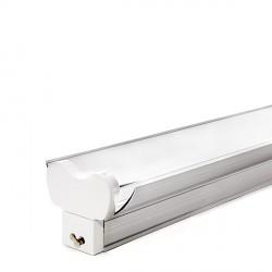 Regleta de Aluminio con Reflector para dos Tubos de LEDs T8 600mm