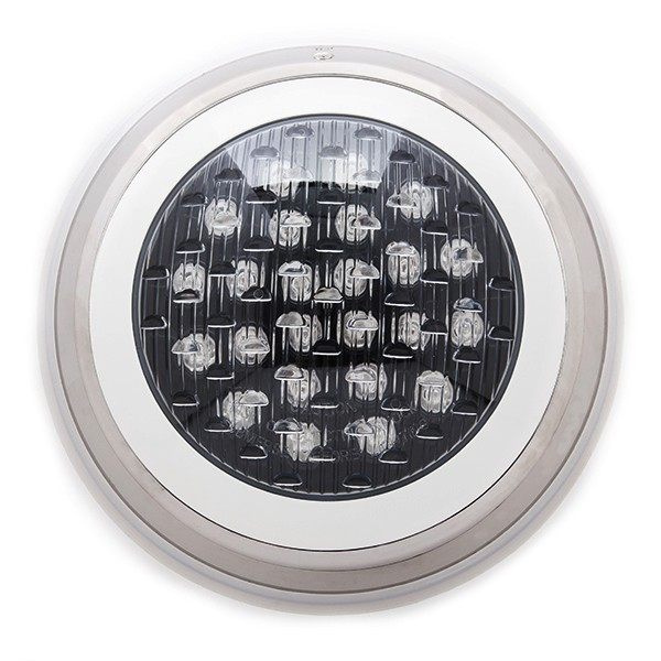 Foco de piscina de leds montaje superficie 300mm 24w for Focos led superficie