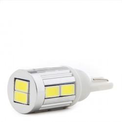 Lámpara Bombilla de LEDs 10 x SMD5730 Base T10