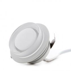 Mini Plafón de LEDs de Superfice para Muebles 1W 100Lm 30.000H Cable 2M