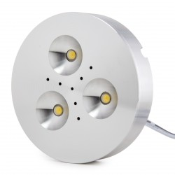 Mini Plafón de LEDs de Superfice para Muebles 3,5W 300Lm 30.000H Cable 2M