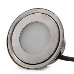 Foco de LEDS para Empotrar IP67 0,5W 50Lm 12VDC con Cable 1M/Conector Macho 50.000H