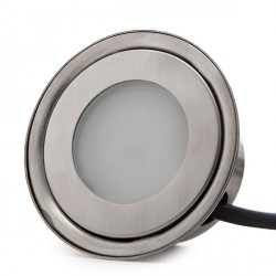IP67 Recessed LED Spot 0,5W 50Lm 12VDC with Cable 1M/ Male Connector 50.000H