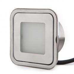 Foco de LEDS para Empotrar IP67 0,6W 60Lm 12VDC con Cable 1M/Conector Macho 50.000H