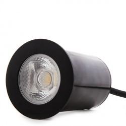 Foco de LEDS para Empotrar IP67 4,5W 450Lm 100-240VAC con Cable 0,5M Cabeza Color Negro 50.000H