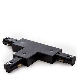 T Connector  for 3-Phase Tracklight Rail Black