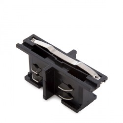 Straight Connector for 3-Phase Rail Black