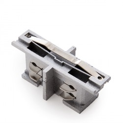Straight Connector for 3-Phase Rail Silver Colour