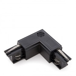 """""""L"""" Connector for 3-Phase Rail Black"""