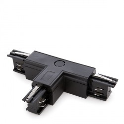 """""""T"""" Connector for 3-Phase Rail Black"""