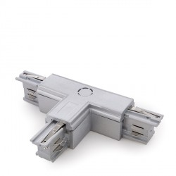 """""""T"""" Connector for 3-Phase Rail Silver Colour"""