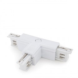 """T"" Connector for 3-Phase Rail White"