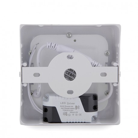 Square Surface Mounted LED Ceiling Lamp 120mm 6W 470Lm 30.000H