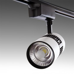 LED Tracklight for 2-Phase Rail 20W 2000Lm 30.000H