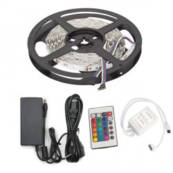 300 LED SMD5050 5M Multicolour RGB Strip IP33 Indoor with Transformer and Controller