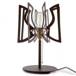 Lámpara de Mesa de Acero Abat Jour Interruptor Cadena