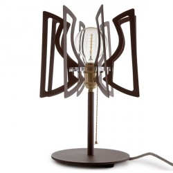 Steel Table Lamp Abat Jour with chain On/Off Switch