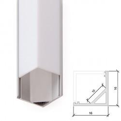 Aluminium Profile for LED Strip - Opal Diffuser - 2-Metre Strip