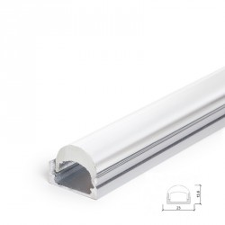 Aluminium Profile Surface Mounted or Hanging for LED Strip - Transparent Diffuser - 2-Metre Strip