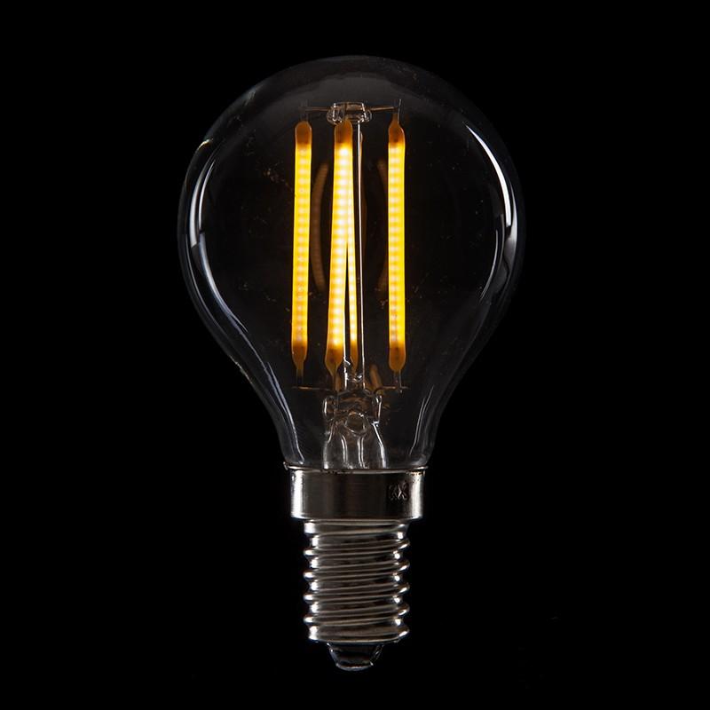 Lampadina a filamento led vintage g45 e14 4w 400lm for Lampadine a filamento led