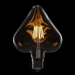 """Vintage"" LED Filament Bulb HEART  E27 6W 600Lm"